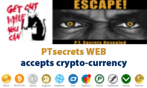 PTsecrets WEB accepts CryptoCurrency